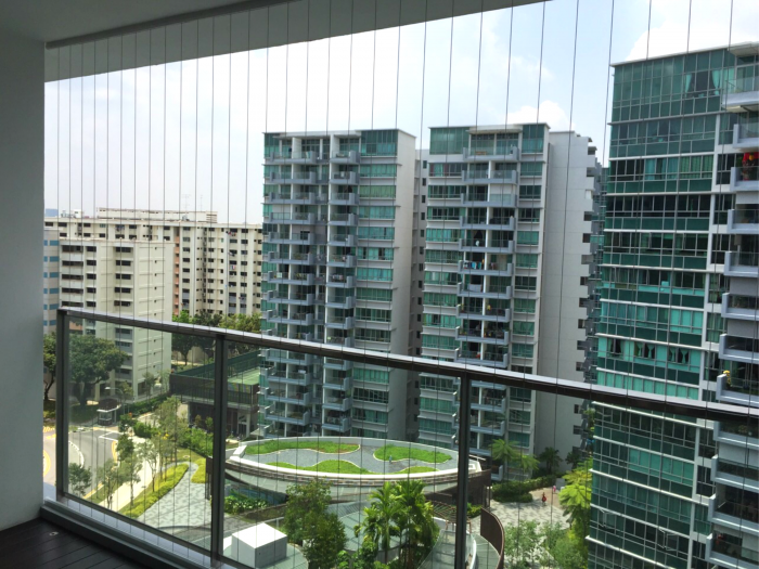 Invisible grille homegrille for Condo balcony ideas singapore